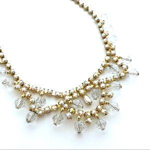 Rhinestone Necklace Vintage Bridal Glam